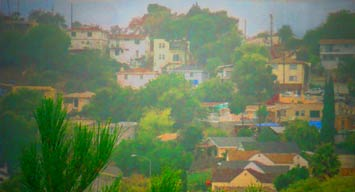 photo of El Sereno hilltop with houses